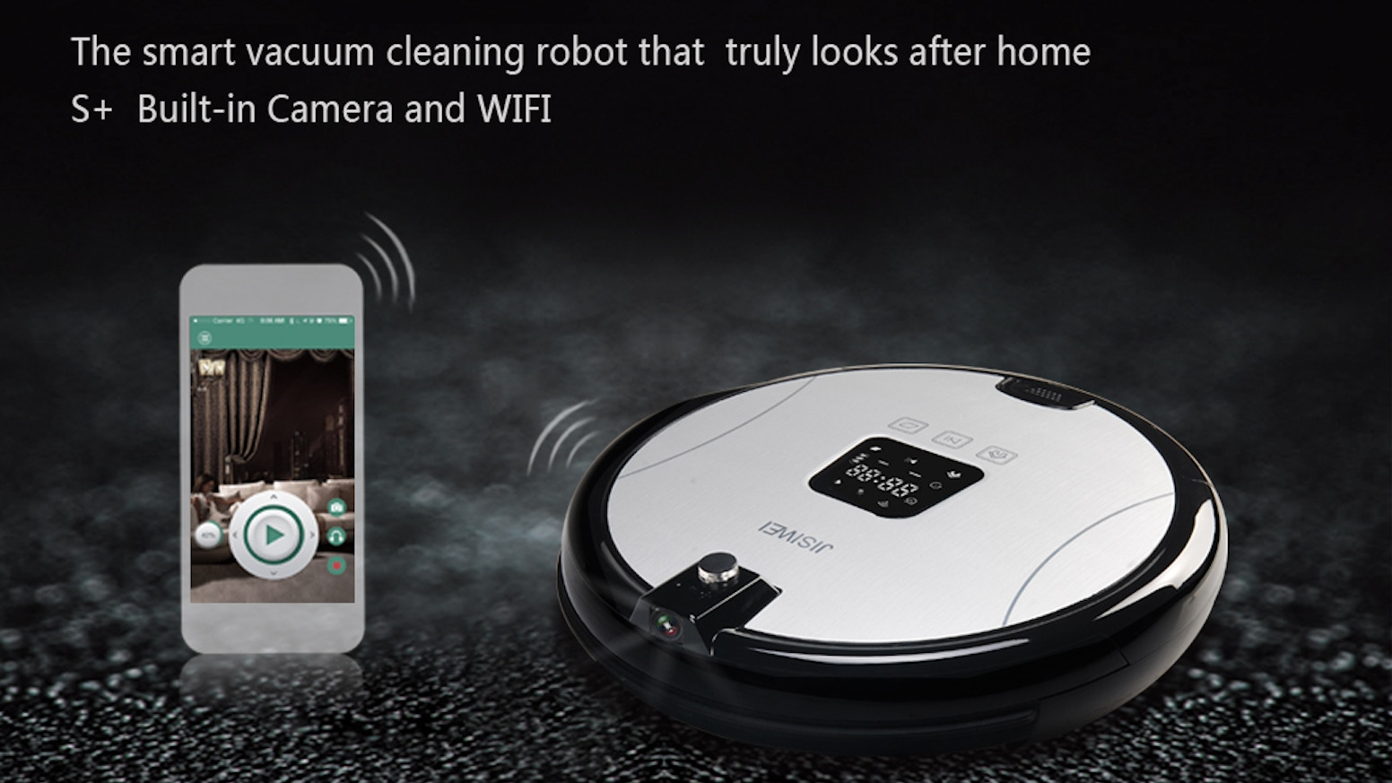 JISIWEI S+ is remote controlled, camera enabled, ideal for vacuuming and sweeping.It's a smart robot that truly looks after your home.