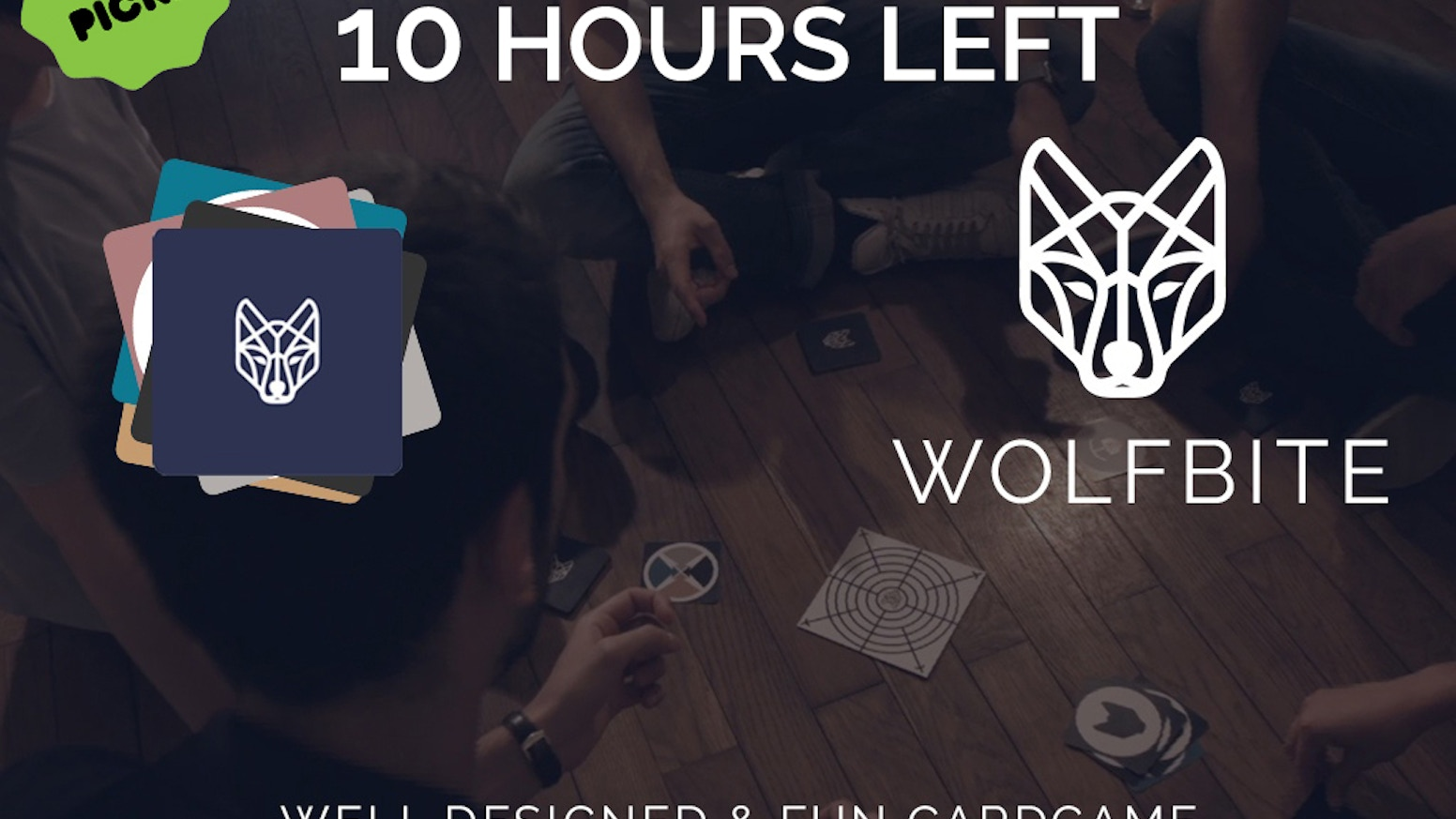 Wolfbite is a game about becoming the Alpha wolf by getting rid of all your cards. 2-6 players - 2 minutes to learn - 15 minutes / game