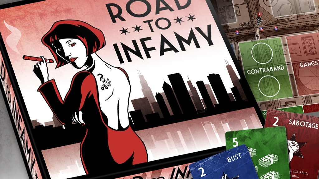 Road To Infamy - Gangster Board Game project video thumbnail