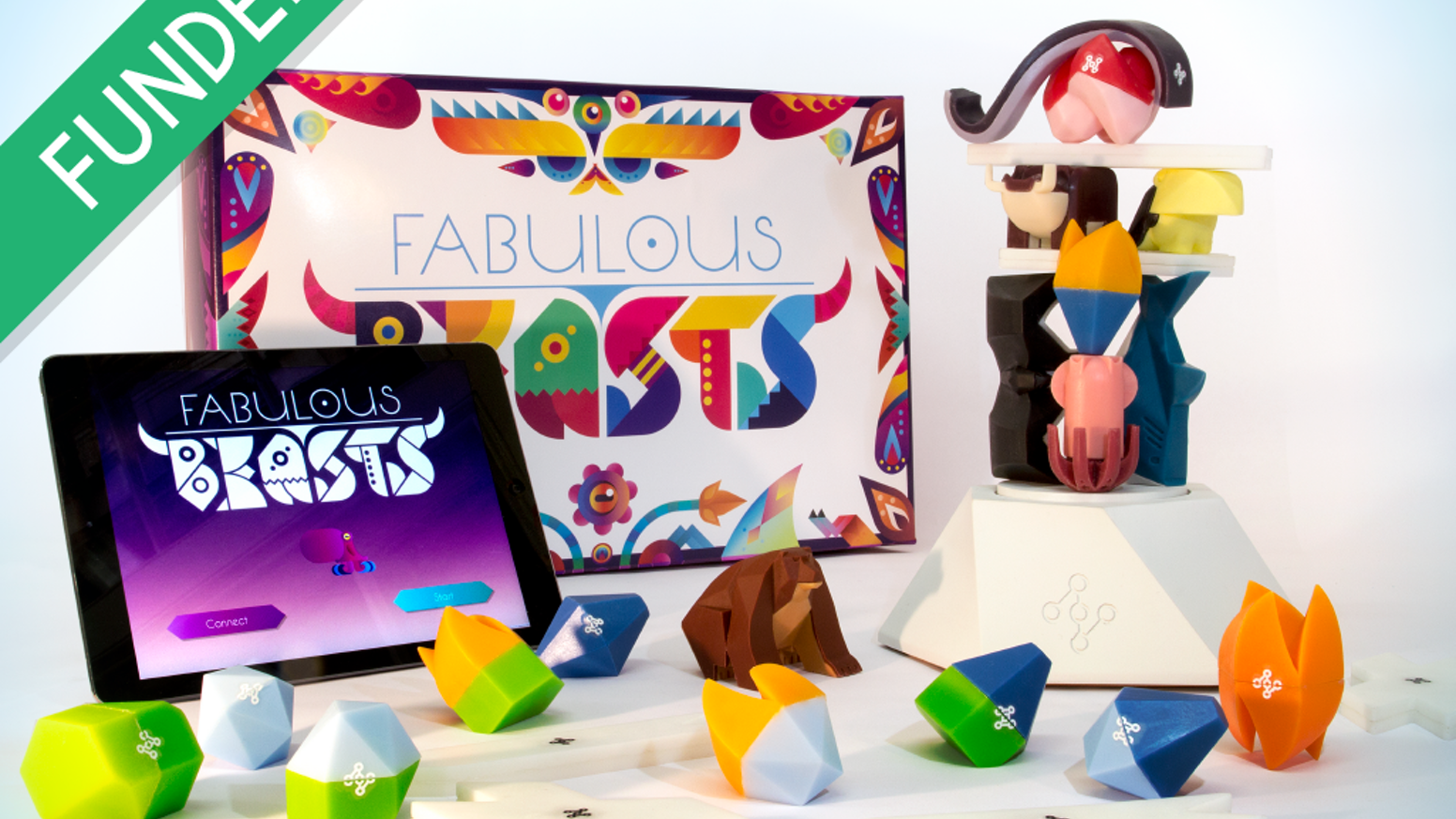 A tasty blend of tabletop dexterity and digital strategy, previously called Fabulous Beasts. Beautiful pieces, custom hardware and super-social gameplay. Fun. Fun? Fun!