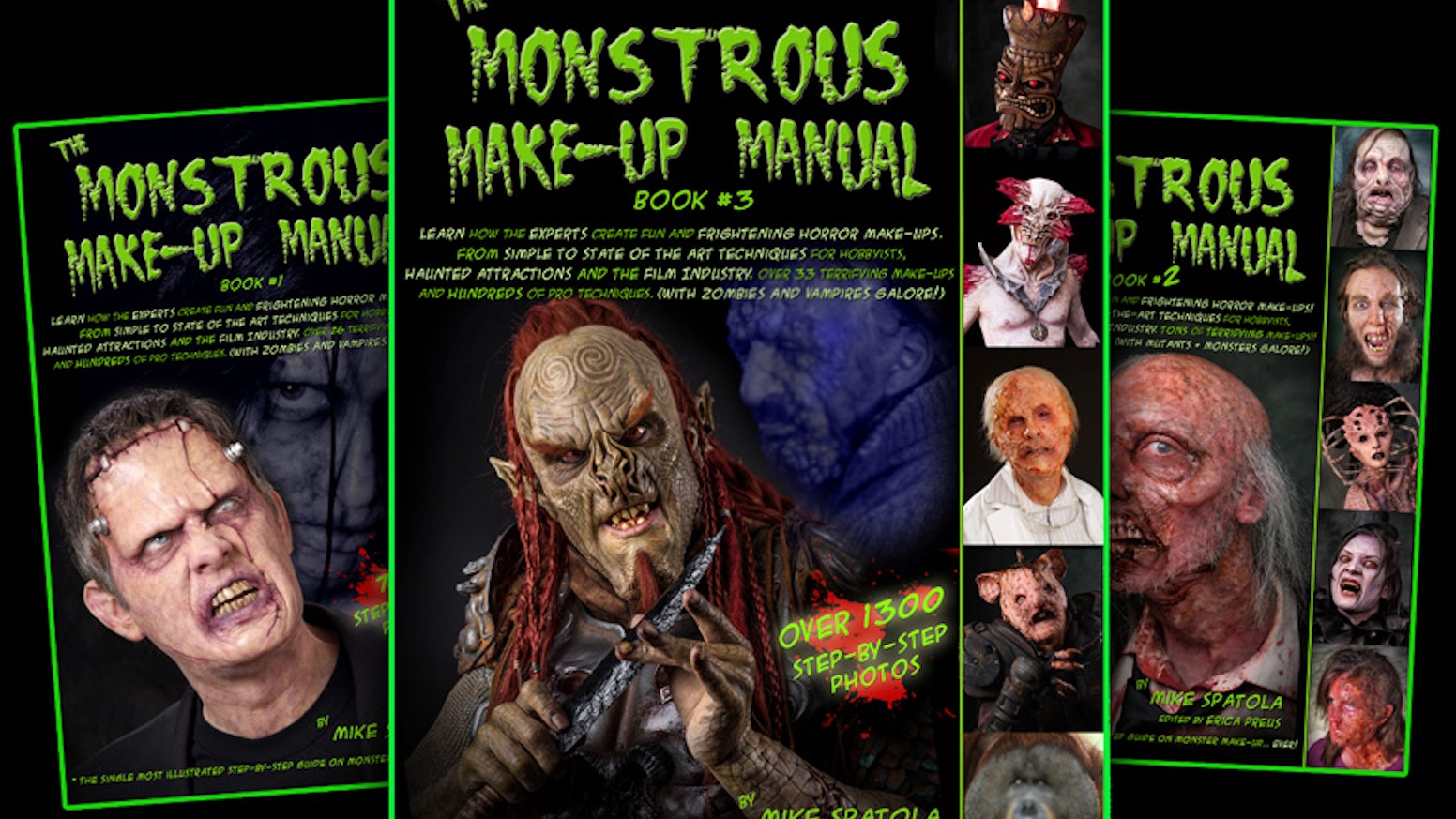 The 3rd installment in The Monstrous Makeup Manual series by Mike Spatola. With More Monsters! More techniques! More Amazing Artists!