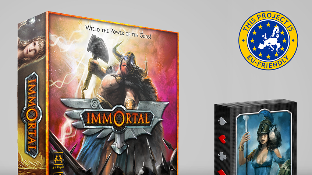 IMMORTAL - Mythology Game and Playing Cards project video thumbnail