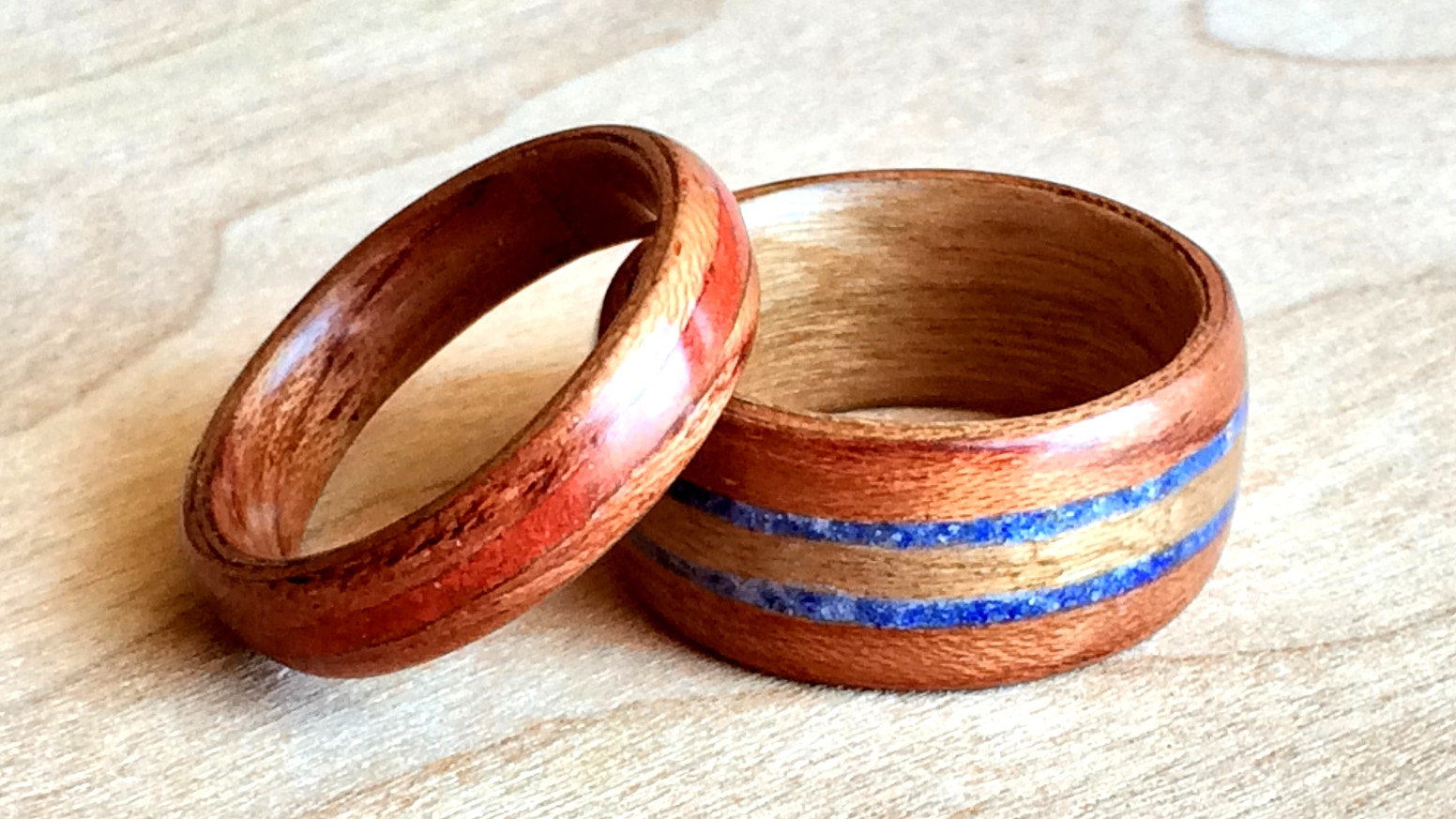 img shop rings red bentwood boardthing ring wedding forsure dot wooden be