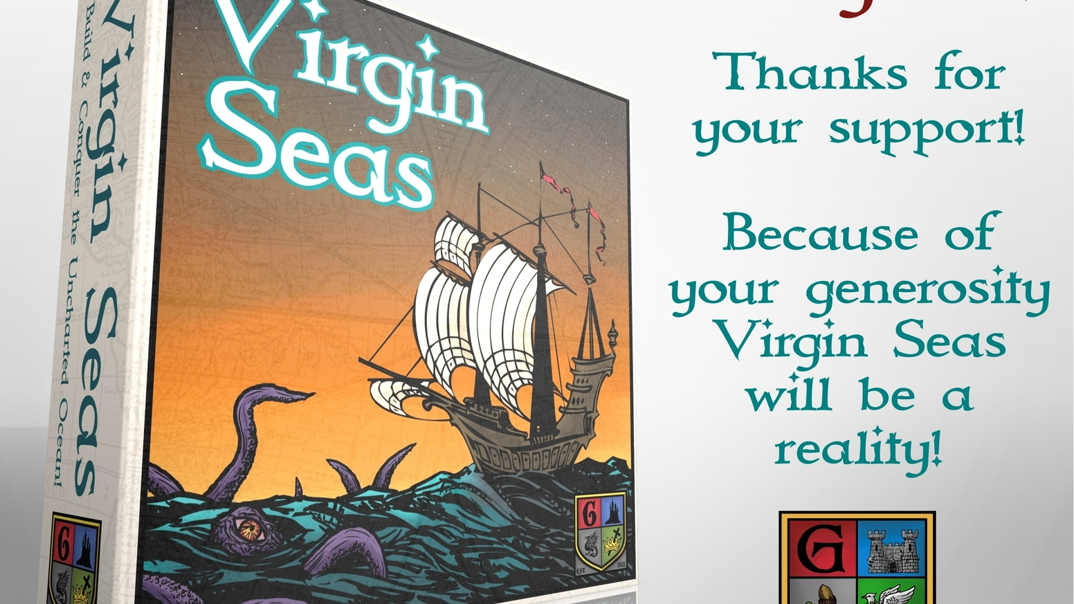 Come on a voyage with us in the Virgin Seas in this quick 2-4 player tile-laying area control game! NOW WITH SHIP MEEPLES!