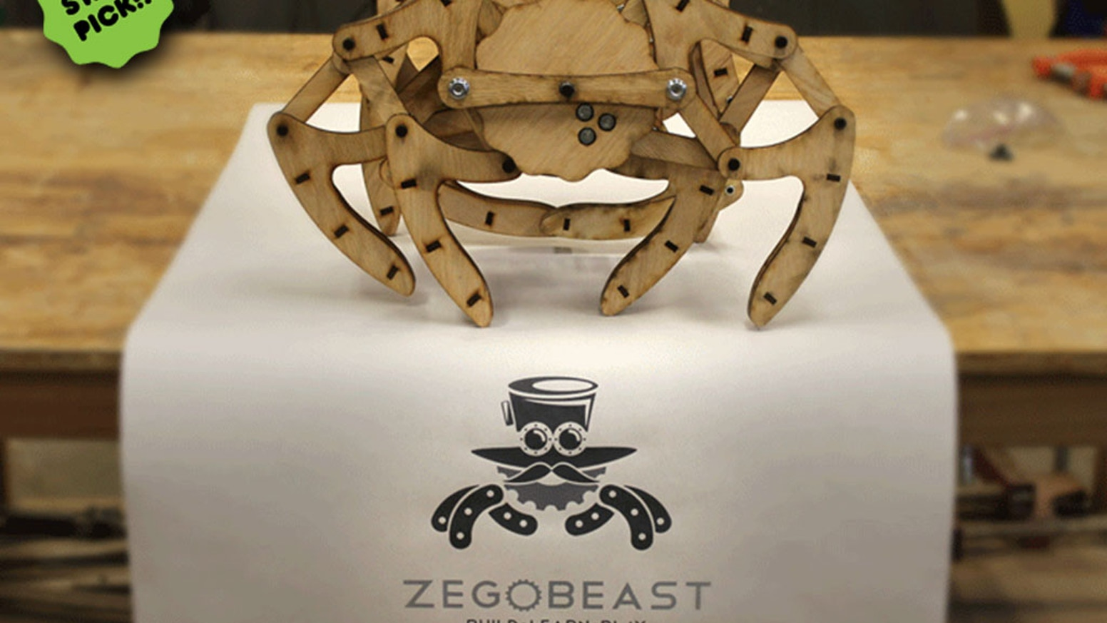 ZeGoBeasts are biologically-inspired mechanical walking creatures that teach you about basic kinematics and are awesome to build.