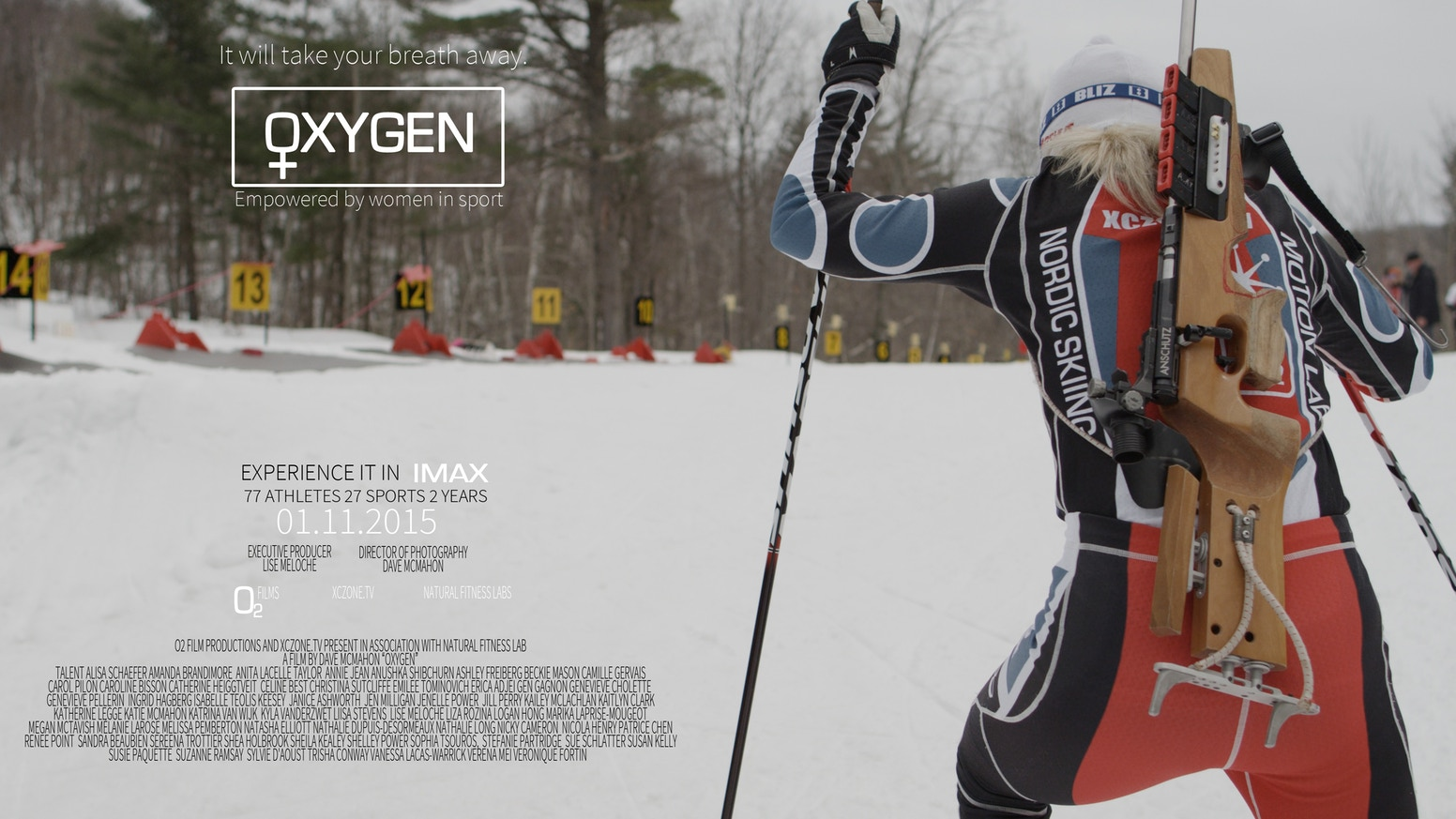 Oxygen is a beautifully choreographed film about outdoor sport empowered by women and breath taking IMAX cinematography.