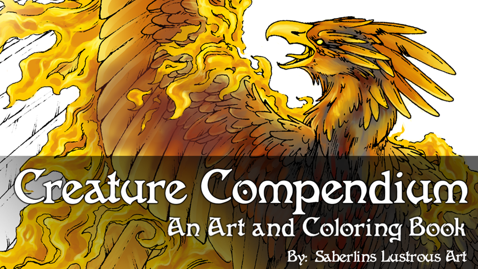 More than your average coloring book, the Creature Compendium will take you into the gorgeously illustrated world of fantasy creatures.