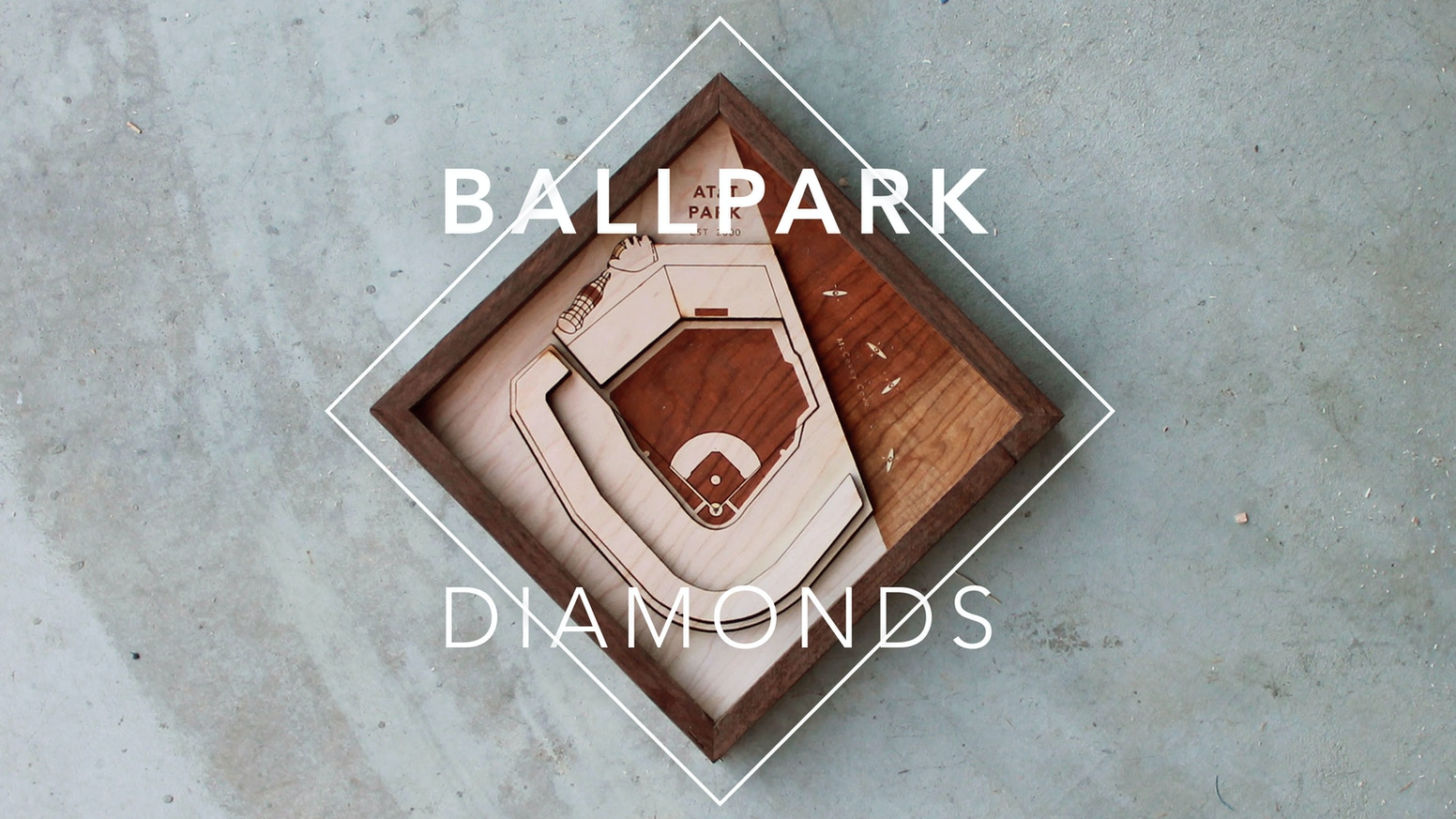 Hand assembled relief sculptures of your favorite ballpark or stadium; ready to hang.