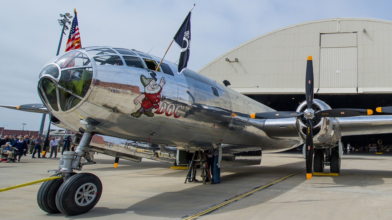 This fully restored bomber is the second and last-known airworthy  B29. With your help, Doc will be sent through flight testing.