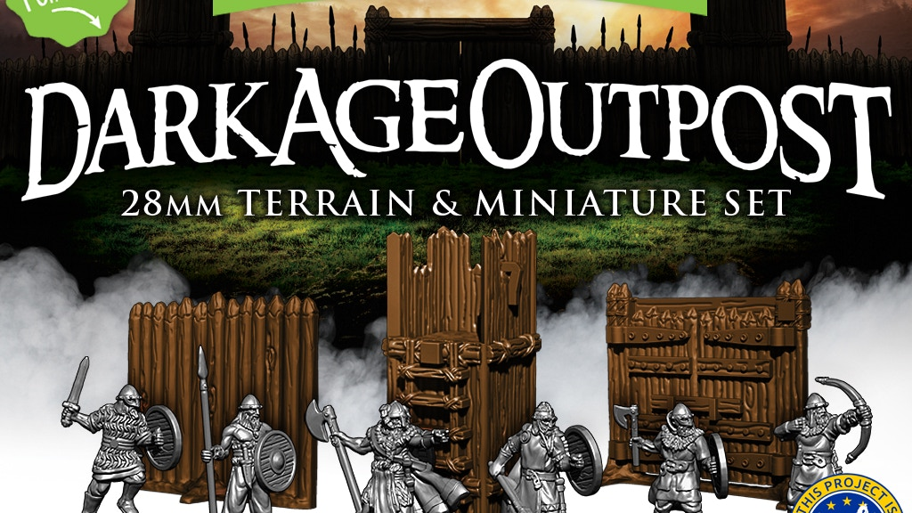 Dark Age Outpost: 28mm Terrain & Miniature Set project video thumbnail