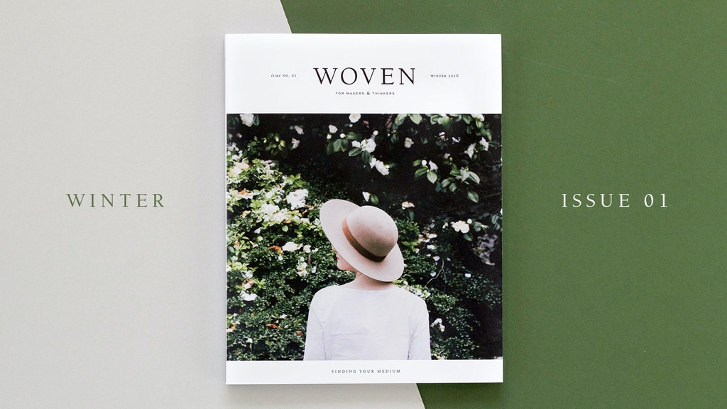 Woven Magazine Issue One project video thumbnail