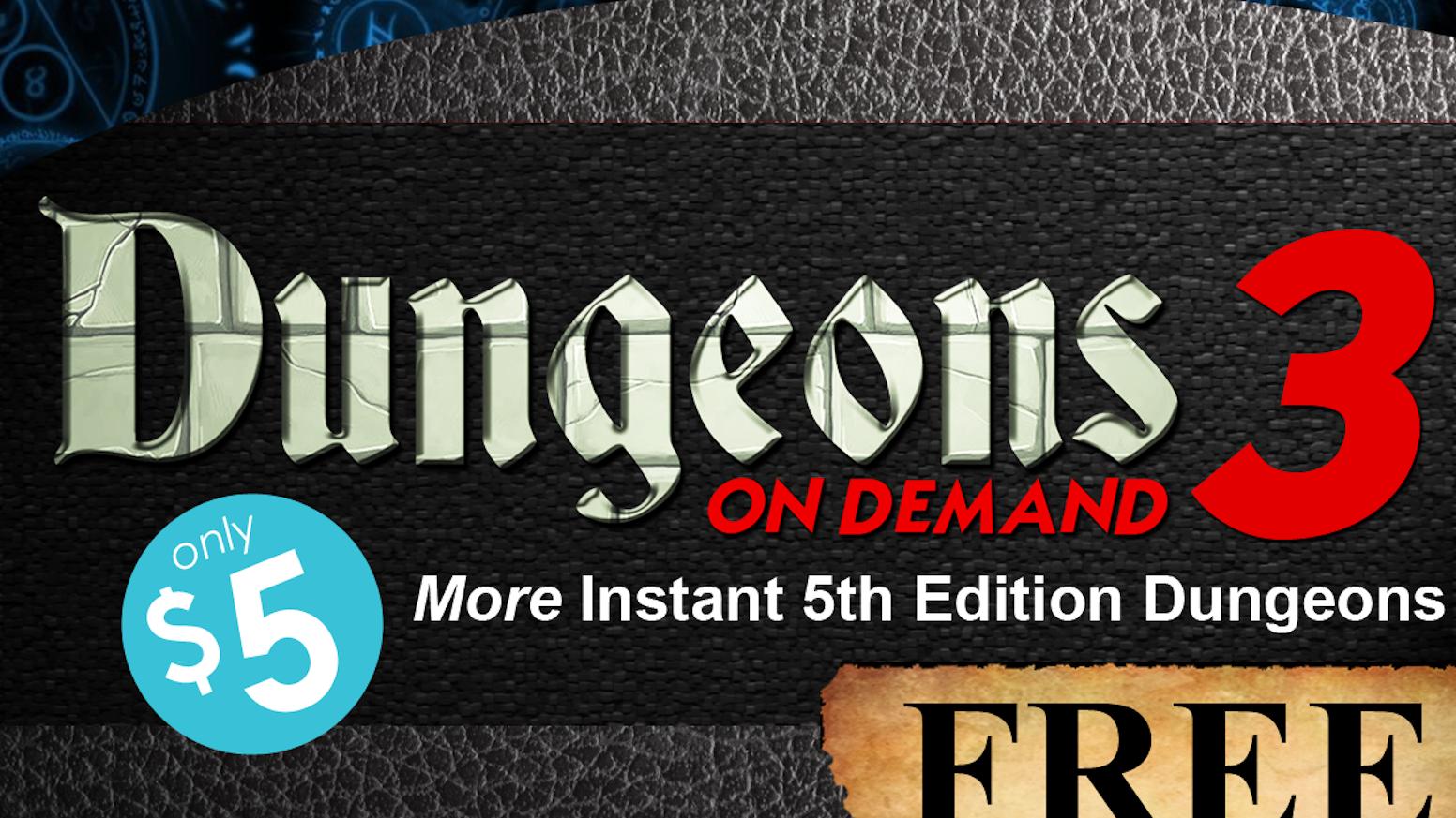 Dungeons On Demand Volume 3 5e Dnd Dungeon Adventures