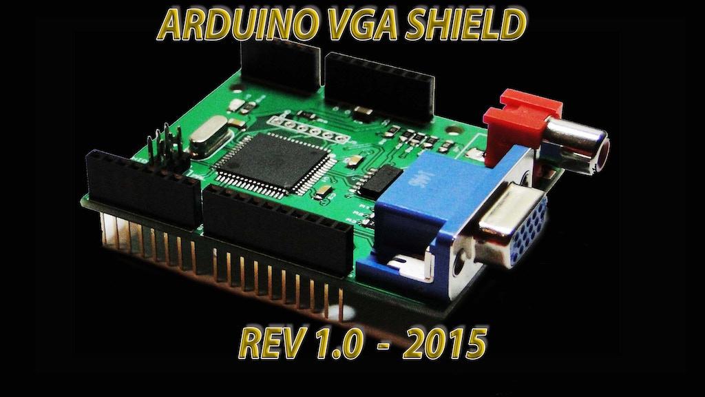 VGADuino , VGA Graphic Shield for ARDUINO with RGB/AV ports project video thumbnail