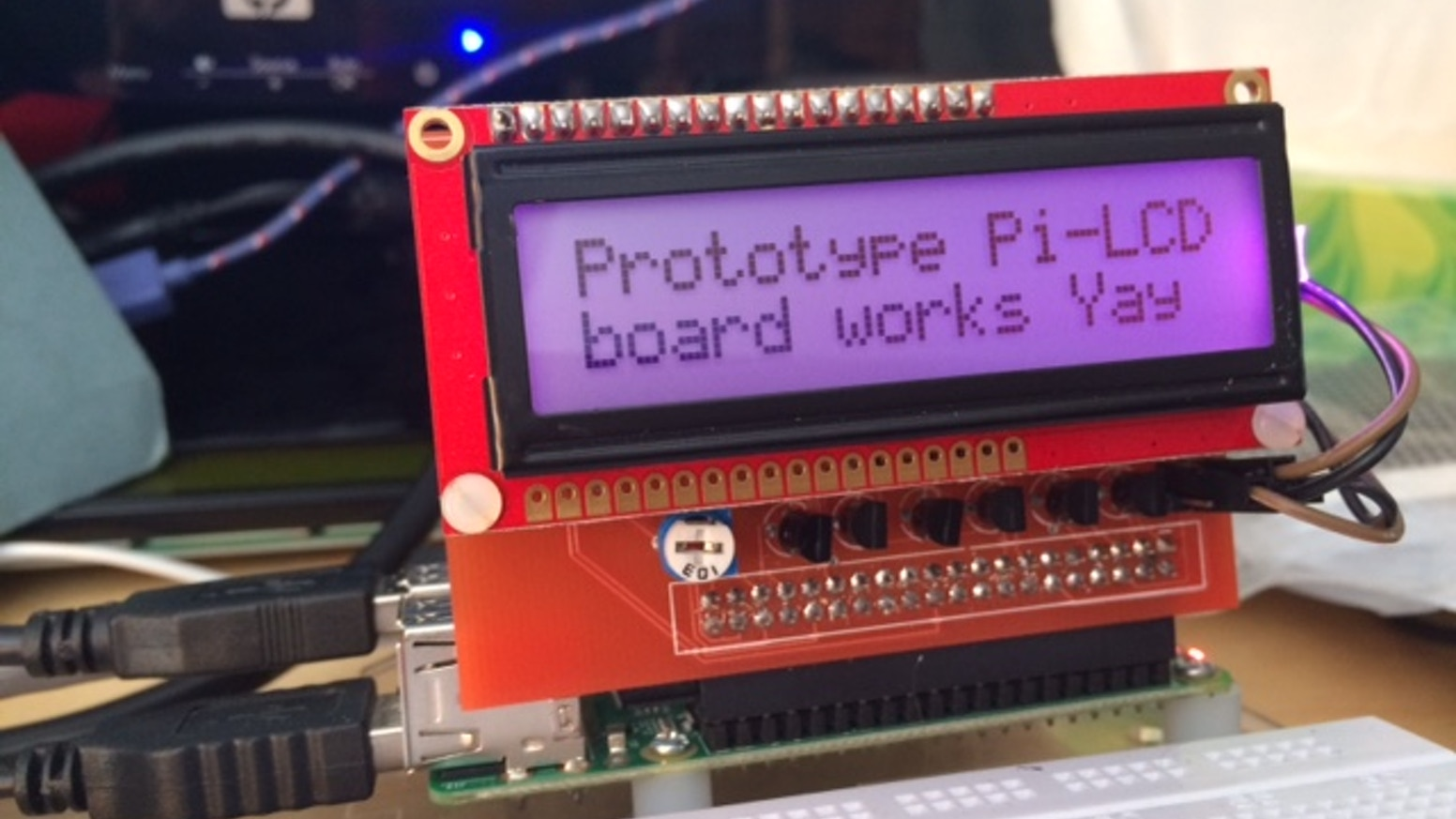 Pi-LCD, a simple LCD interface board for your Raspberry Pi