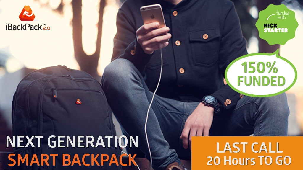 iBackPack 2.0 - 4G MiFI, HiTech Batteries - Smart Cables project video thumbnail
