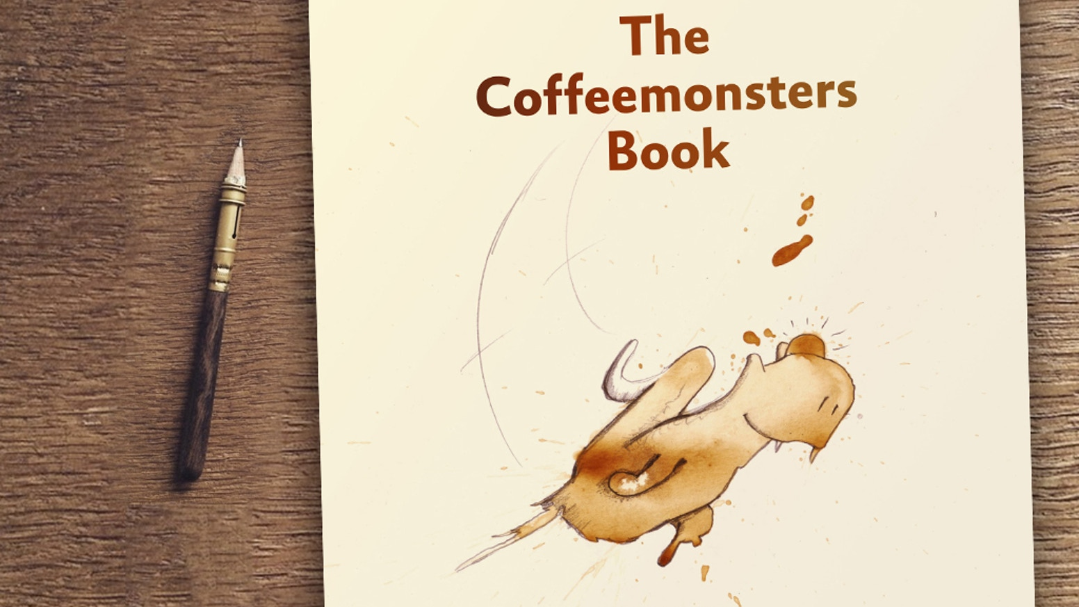 """Thank you for making """"the coffeemonsters book"""" a reality! Coffeelicious with all their stories."""