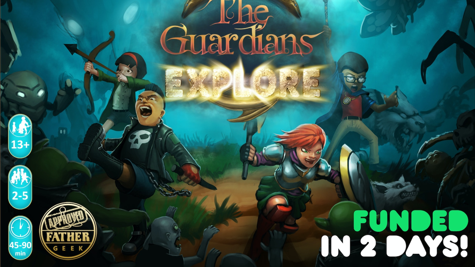 The Guardians: Explore - a card based adventure game to save Arthursburg from a monster invasion and crown a True Guardian.