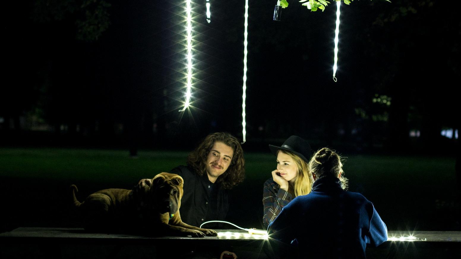 Use-everywhere portable LED light rope & lantern that sticks, ties, hooks, or hangs on virtually anything.