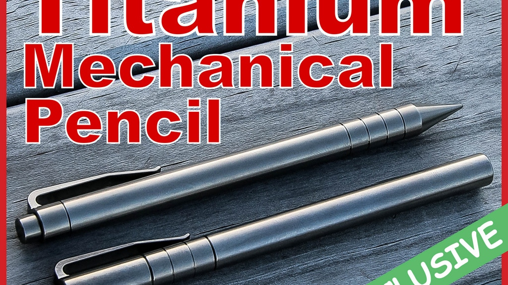 Titanium Mechanical Pencil And Titanium Pen project video thumbnail