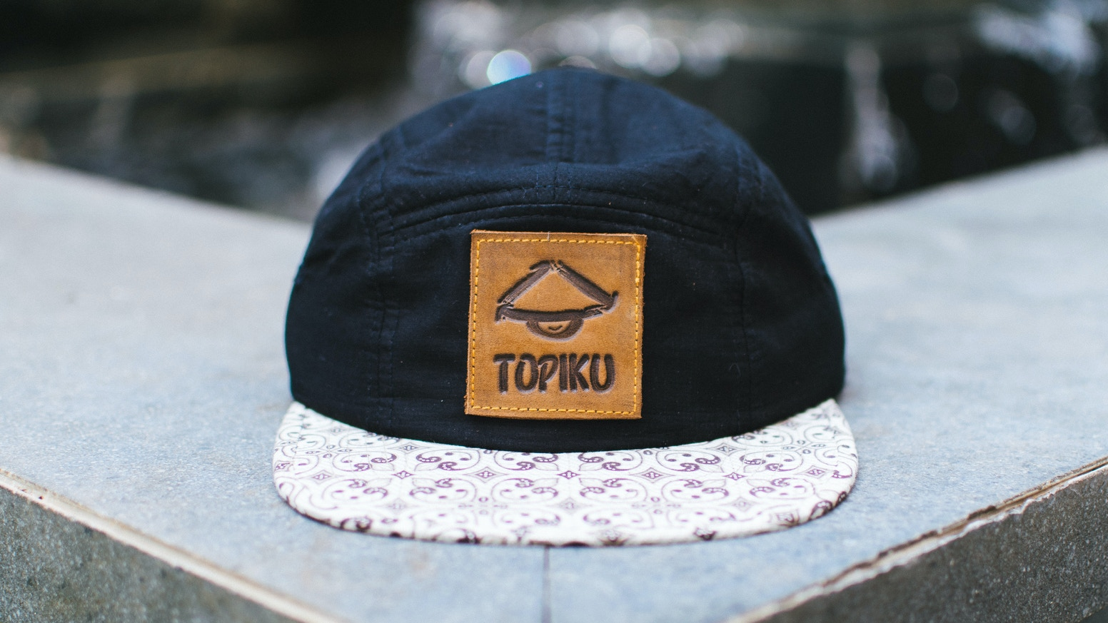 One-of-a-kind snapback hats handcrafted from up-cycled materials in Indonesia.