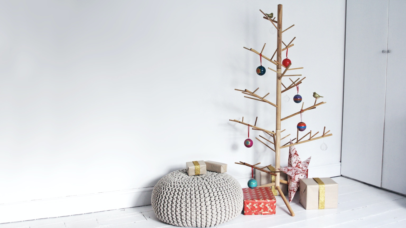 A Contemporary Hand Made Wooden Christmas Tree By