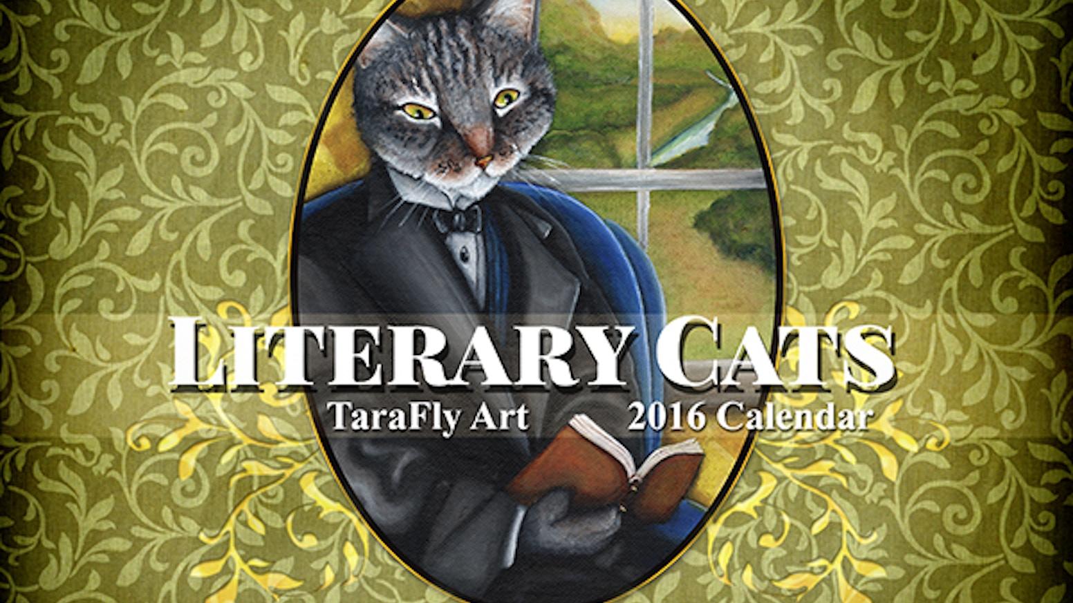 2016 Literary Cats Art Calendar By Tara Fly The 2017