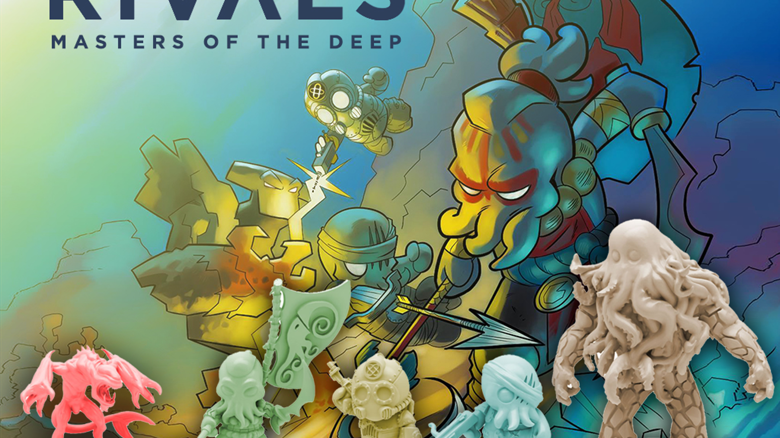 A tactical Miniatures board game for 2-4 players set in a mysterious underwater realm where 4 factions battle for supremacy.