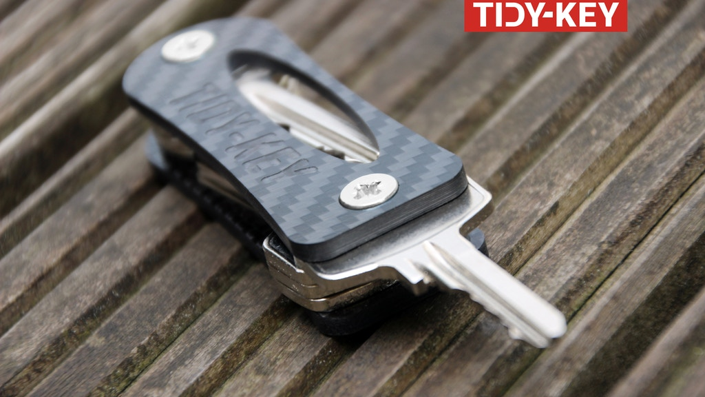 "Project image for TIDY-KEY  "" YOUR SMART CARBON ORGANIZER AND KEYCHAIN """
