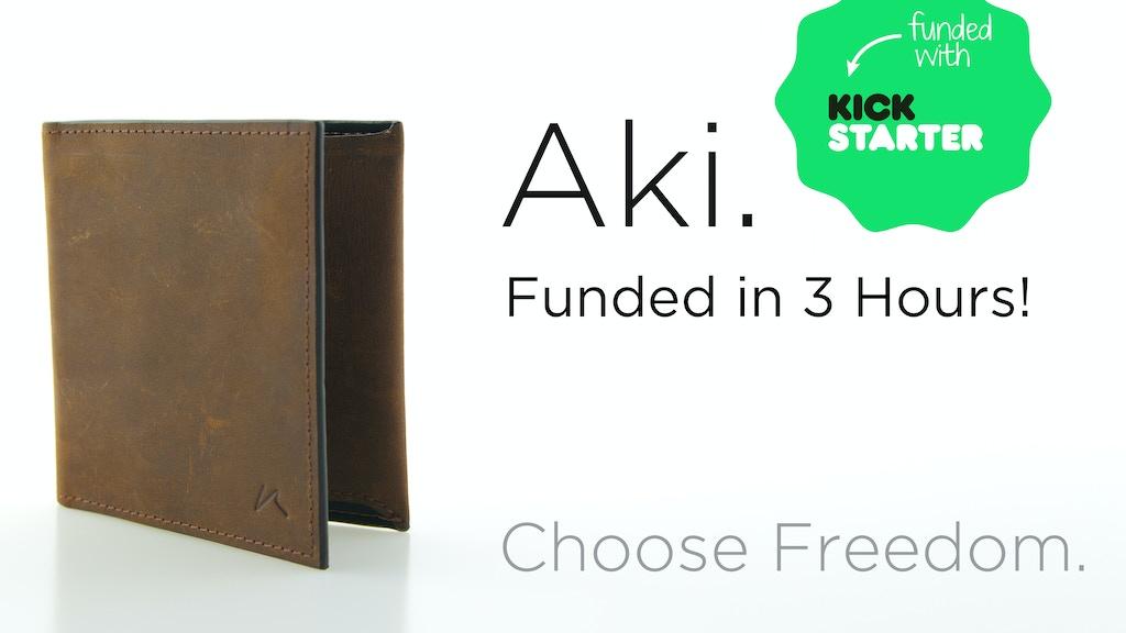 Aki - The Best Minimalist Bifold Slim Wallet project video thumbnail