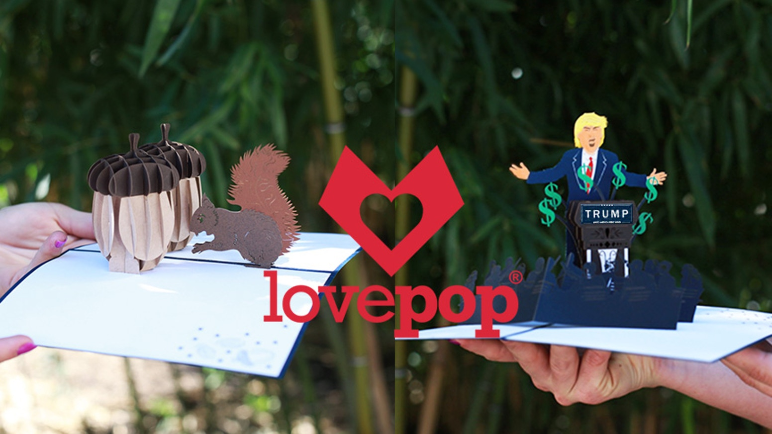 Lovepop 3d Pop Up Greeting Cards Donald Trump Deez Nuts By Wombi