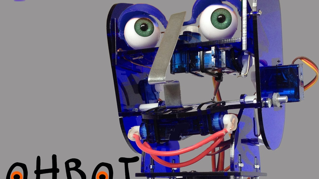 Ohbot2 - A Robot Head to program from your PC project video thumbnail