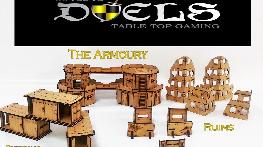 Mini Duels Table Top Terrain for 28mm games project video thumbnail