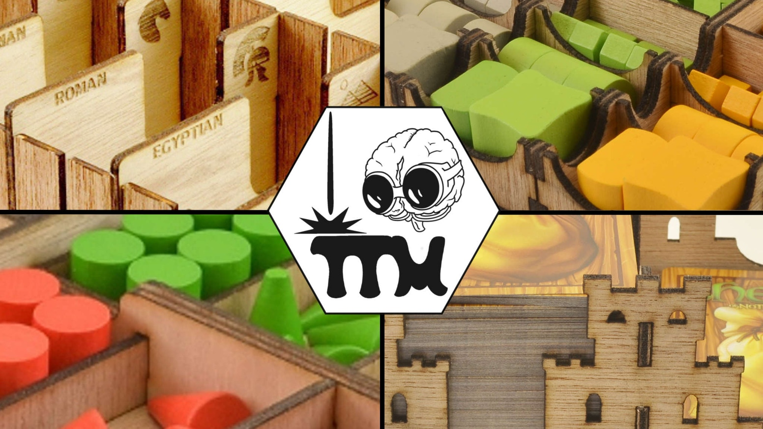 Board game inserts and boxes to organize your game shelf, get games setup fast and improve your table top gaming experience.