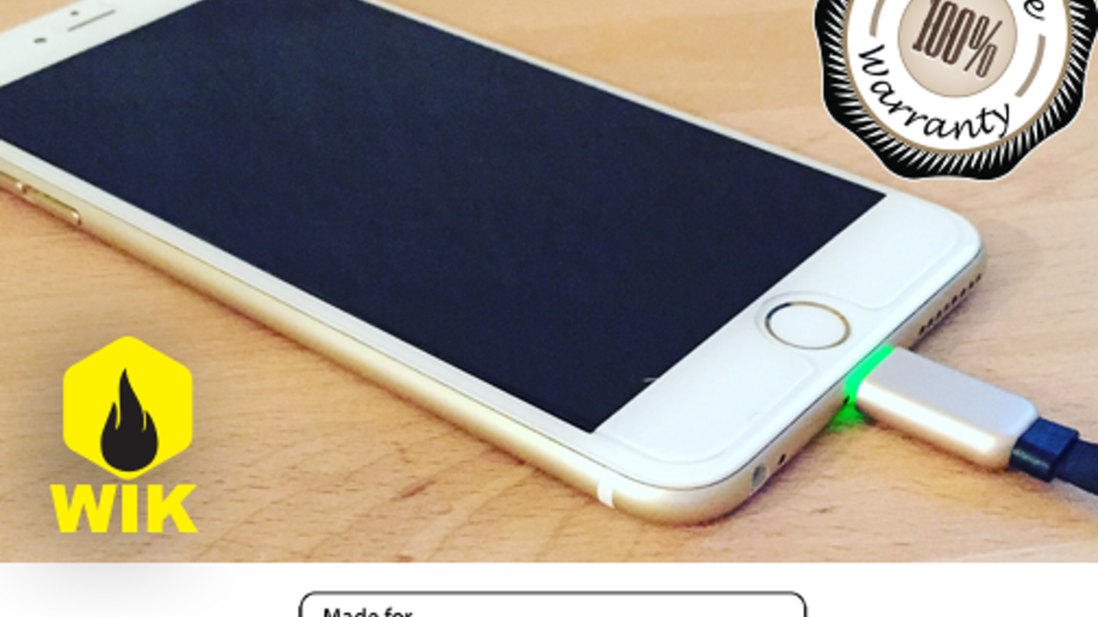 Flat lightning cable, with aluminum ends, LED lit, backed with a Lifetime Warranty. 3FT and 6FT cables