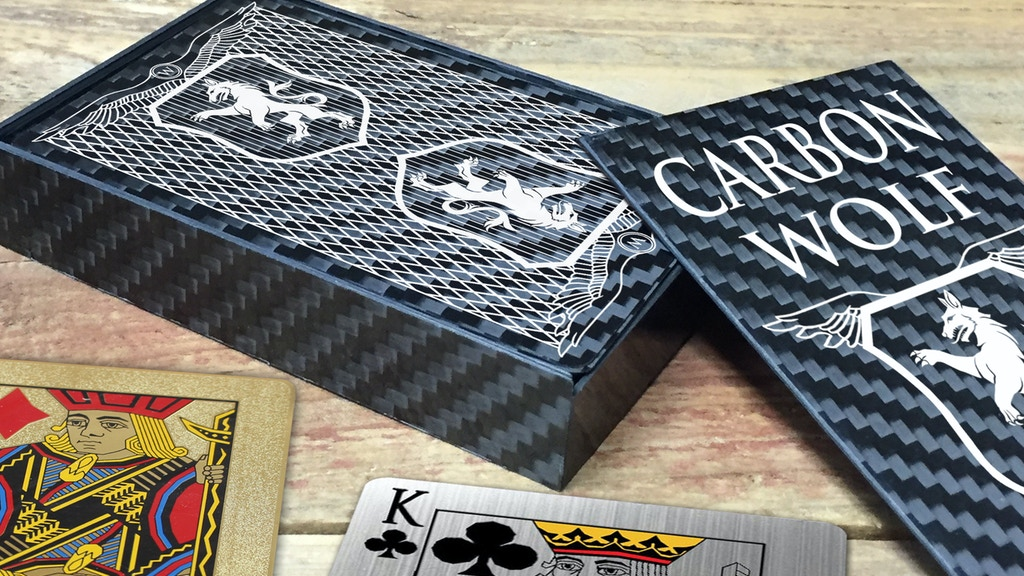 Project image for Stainless Steel, Brass, & Carbon Fiber Playing Cards