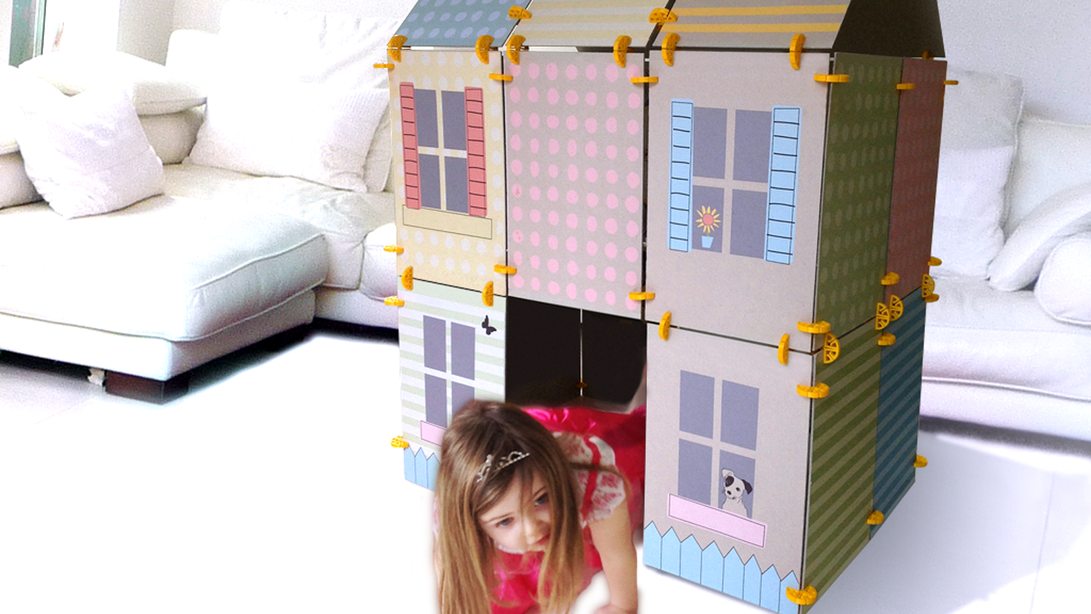 The construction kit for little kids to build big