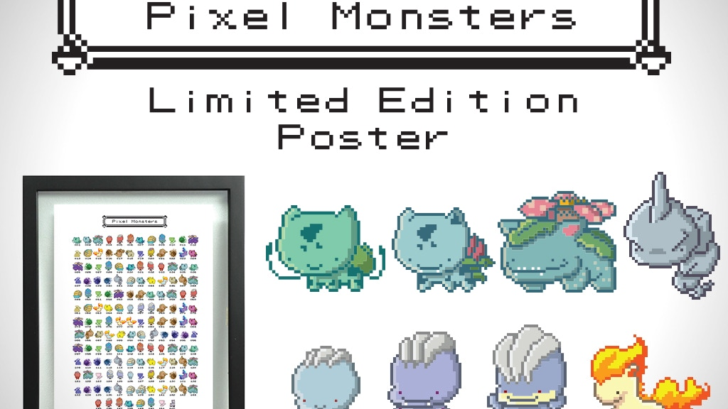 Pixel Monsters - Limited Edition Poster project video thumbnail