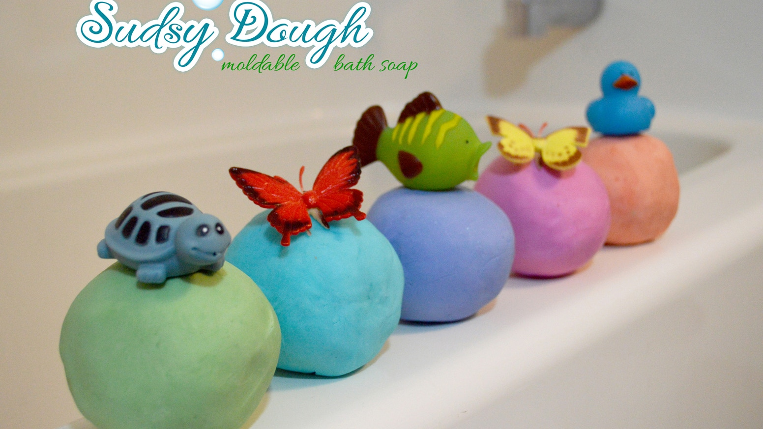 Sudsy Dough moldable soap doubles as an interactive scented bath activity and a cleansing soap! Handmade in the US!