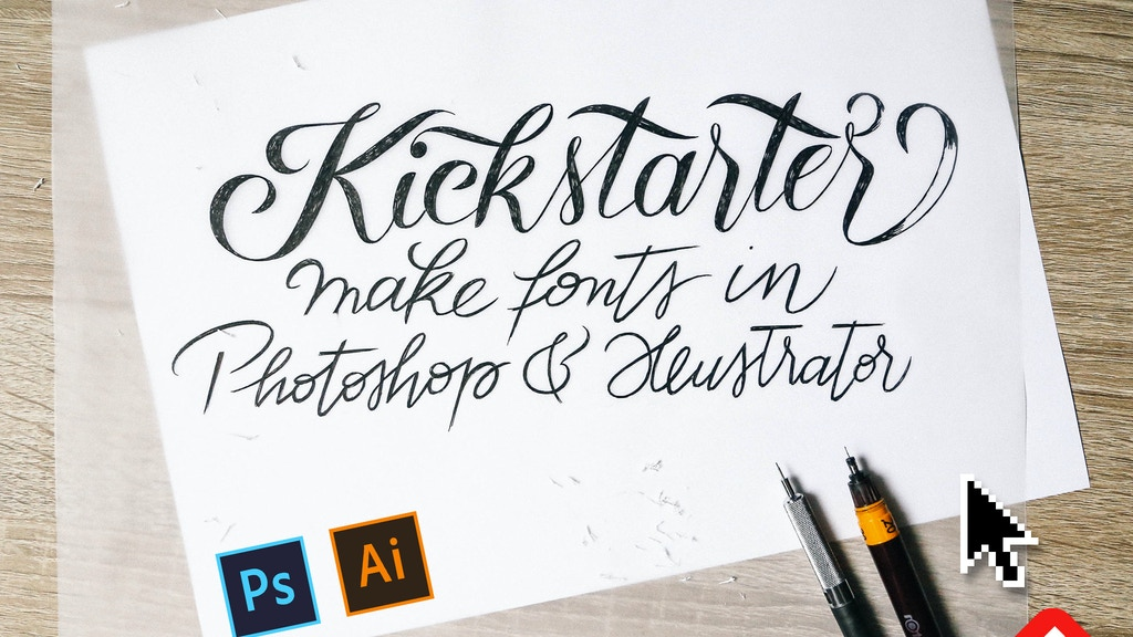 Fontself: make your own fonts in Photoshop & Illustrator project video thumbnail