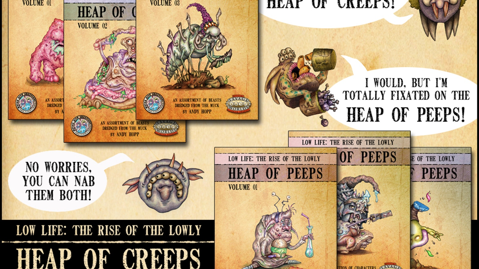 21119985185 Heap of Creeps & Heap of Peeps (Savage Worlds) by Andy Hopp ...