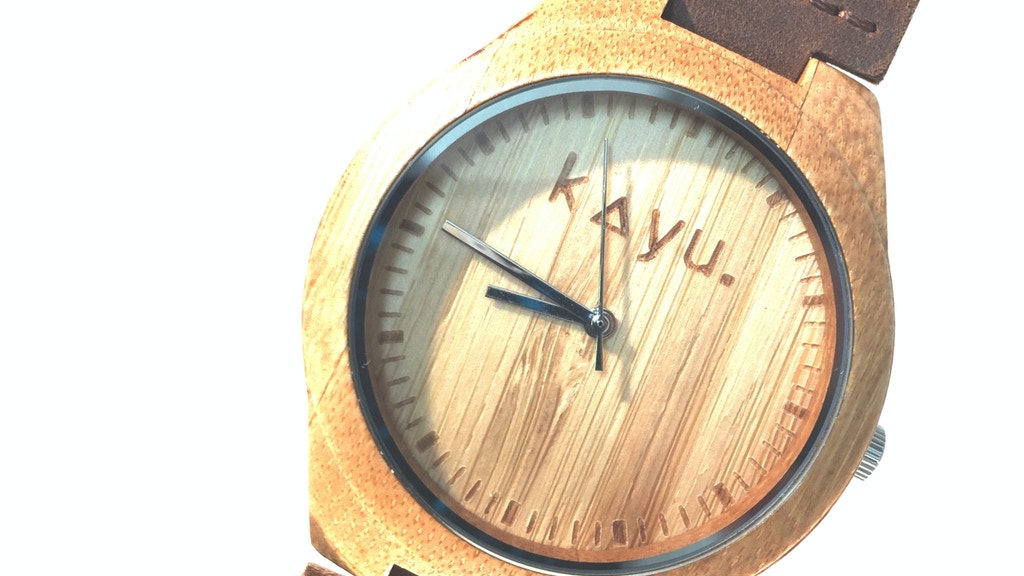 Kayu 'EARTH MMXV' Bamboo Wristwatch project video thumbnail