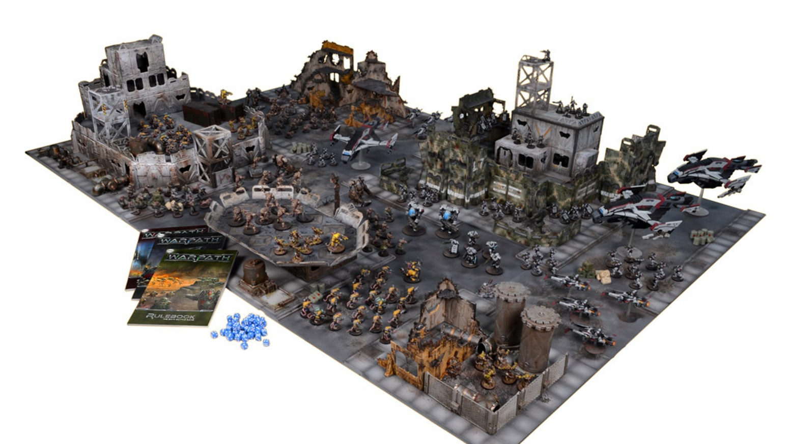 Warpath is the sci-fi gaming system where two opposing forces of miniatures do battle in the warzones of the far future.