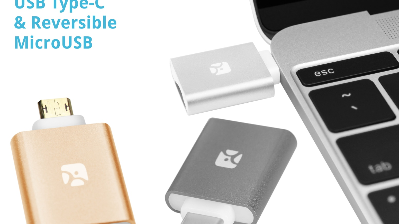 The all new MicroSD reader, now with type-C or reversible MicroUSB plug. A full-size SD reader. Aluminum casing, compact & beautiful.