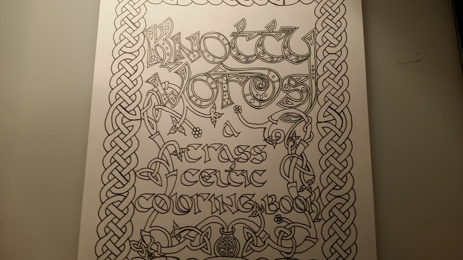 Knotty Words: A Crass Celtic Coloring Book by Mathew \