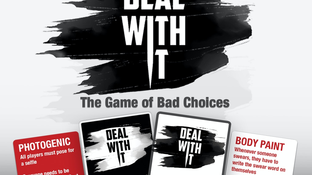 Deal With It: A party game for mean friends project video thumbnail