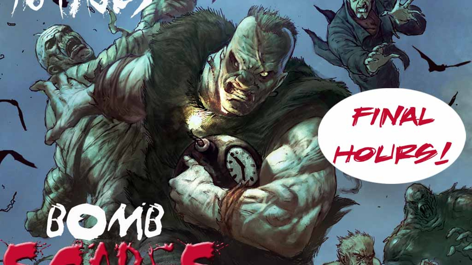 A 96 page anthology of horror comics featuring a frightening array of talent!