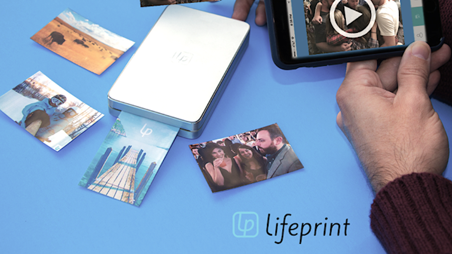 Print Apple Live Photos, Vines, GIFs, and more with this Augmented Reality photo AND video printer! For IOS, Android, and GoPro