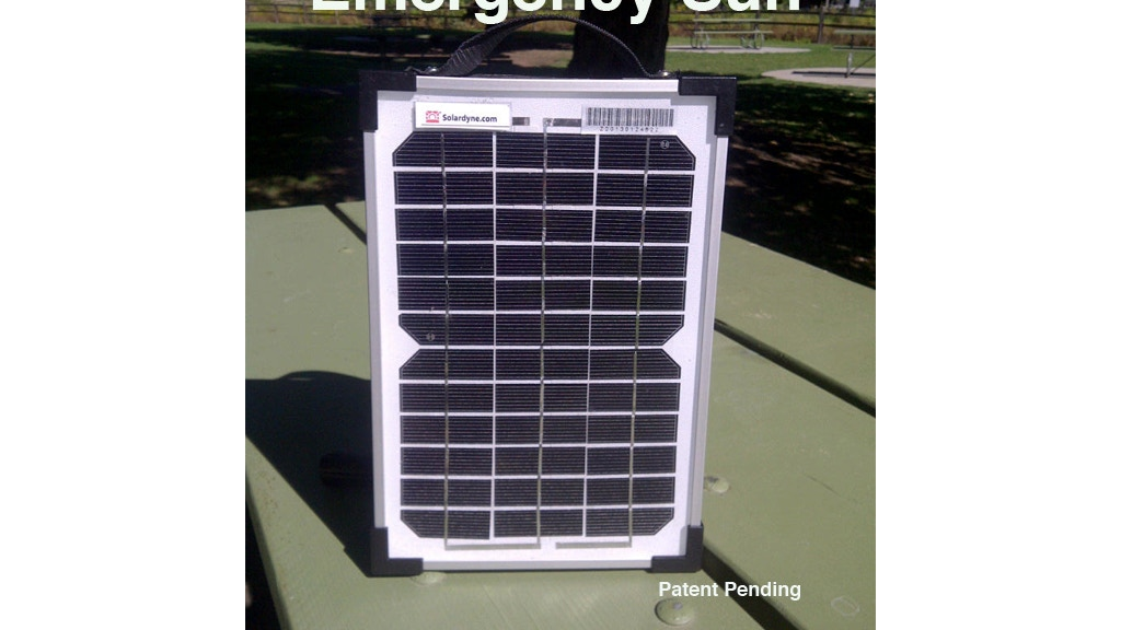 Emergency Sun - Portable Solar Power for Natural Disasters project video thumbnail