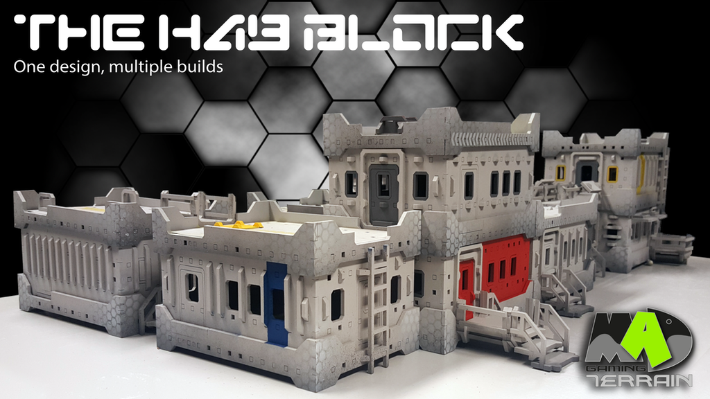 """The Hab Block"" multi build 28mm gaming terrain building project video thumbnail"