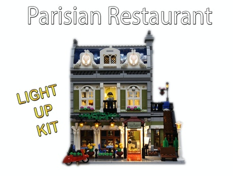 Light Up Kits For Lego 10243 Parisian Restaurant Modular By